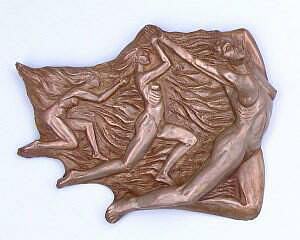 Emergence Wall Hanging in Cold Cast Copper