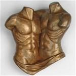 Man to Man Torso in Cold Cast Copper