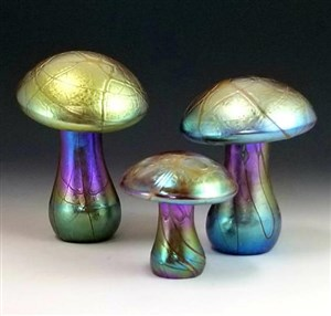 Gold Iridescent Mushrooms