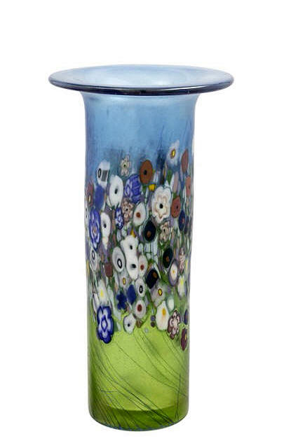 Flower Bouquet Flared Cylinder Vase