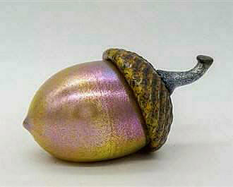 Glass Acorn Purple