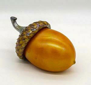 Glass Acorn Orange