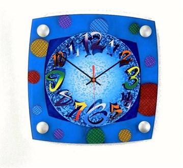 TV Mod Blue Wall Clock