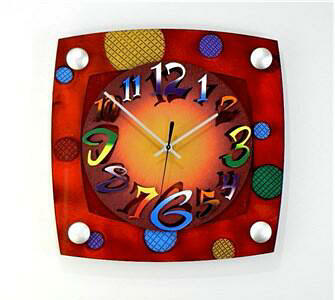 TV Mod Red Wall Clock