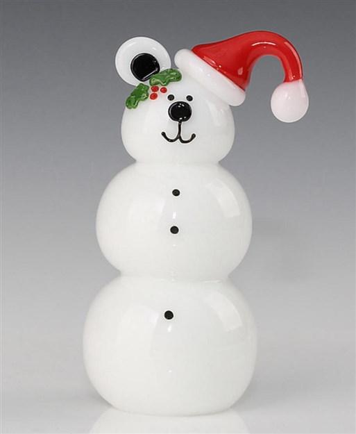 Santa Bear Snowman