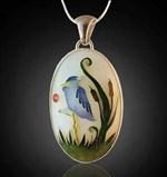 Blue Heron Pendant