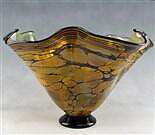 Terra Fluted Footed Vase
