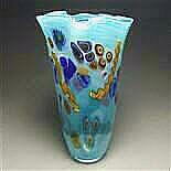 Seascape Fluted Vase