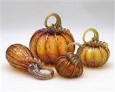 Gold Ruby Pumpkin Set