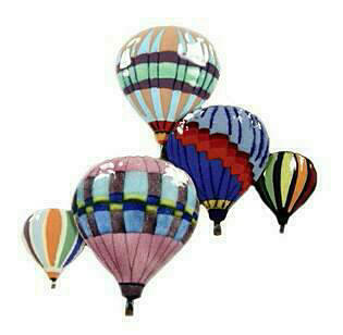 5 Balloons in Flight