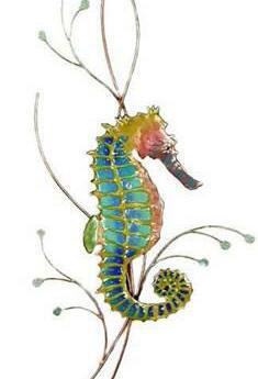 Rainbow Seahorse Facing Right