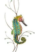 Rainbow Seahorse Facing Right