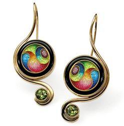 Magick Earrings with Peridot