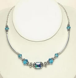Swavorski Necklace Indicolite
