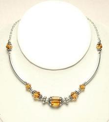 Swavorski Necklace Topaz by Naomi Johnson
