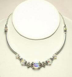 Swavorski Necklace Sapphire by Naomi Johnson