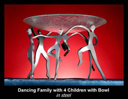 Dancing Family with Children Bowl