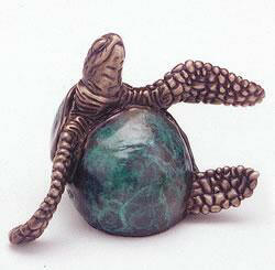 Flipper Bronze Turtle