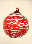 Trail Round Ball Ornament Ruby Red