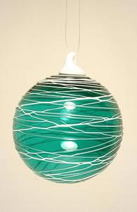 Trail Round Ball Ornament Emerald Green