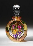 Gold Luster Floral Bouquet Perfume Bottle