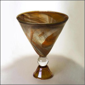Alabaster Footed Martini Bowl