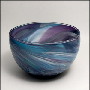 Large Marble Bowl Blue and Purple