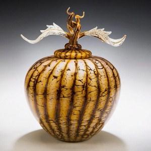 Batik Acorn Vessel