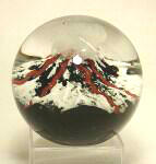 Volcano Glass Paperweight