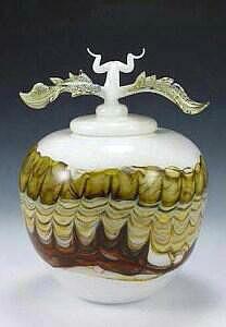 Sargasso Covered Jar Avian Finial