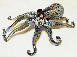 Octopus Sculpture Blue