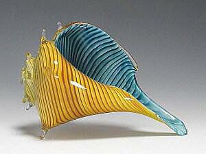 Sea Shell Carmel - Blue Green