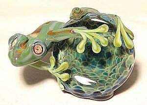 Green Frog on Geode I