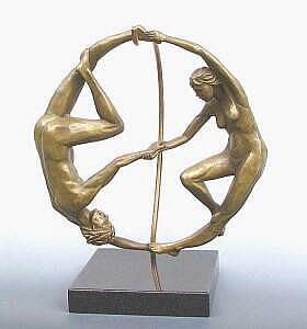 Yin Yang By Metal Sculptor Michael Alfano