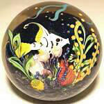 Tropical Fish in Coral Reef Paperweight