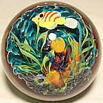 Aqua Coral Reef Paperweight