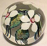 Floral Paperweight White