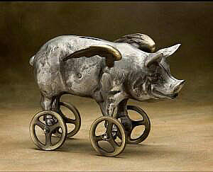 Flying Pig Coin Bank