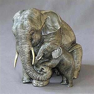 Elephant Baby and Mama