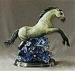 Horse Racing the Wind Buckskin