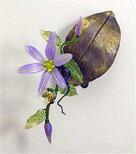 Clematis on Leaf Wall Mounted