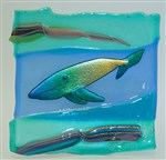 Whale Plate Fused Glass