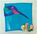 Hummingbird Square Plate