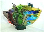 Frog Coral Wave Vase