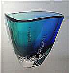 Triangular Bowl Blue Multi