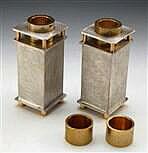 Sanded Texture Shabbat Candle Stick Holder