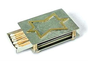 Matchbox Holder with Star