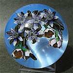 Clematis Bouquet Opaque Light Blue Background