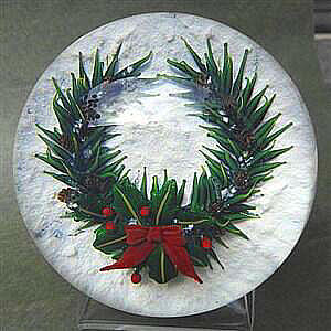 Christmas Wreath Paperweight