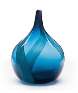 Teardrop Vase Steel Blue